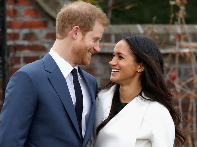 Prince Harry and Meghan Markle can't stop smiling. Picture: Chris Jackson/Getty Images