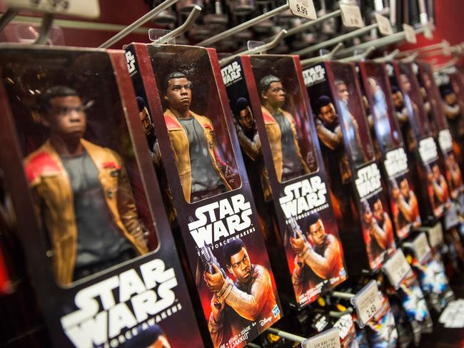 Toys from Star Wars: The Force Awakens were sold in the Toys R Us in Times Square. Picture: Getty