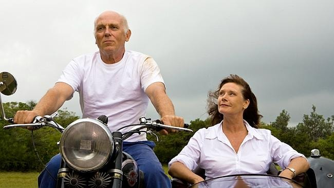 Actors Wendy Hughes and Chris Haywood in a scene from the 2008 film 'The View From Greenh