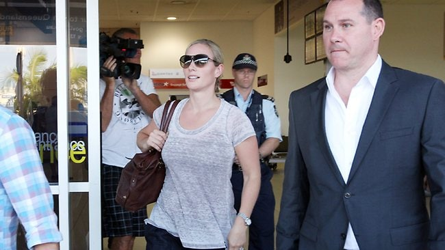 Zara Phillips dressed down for her arrival at Gold Coast Airport at Coolangatta. Picture: Glenn Hampson