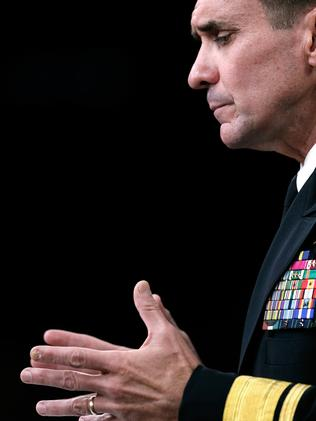 Registering 'strong concerns' ... Pentagon Press Secretary Rear Adm. John Kirby. Picture: Win McNamee/Getty Images/AFP