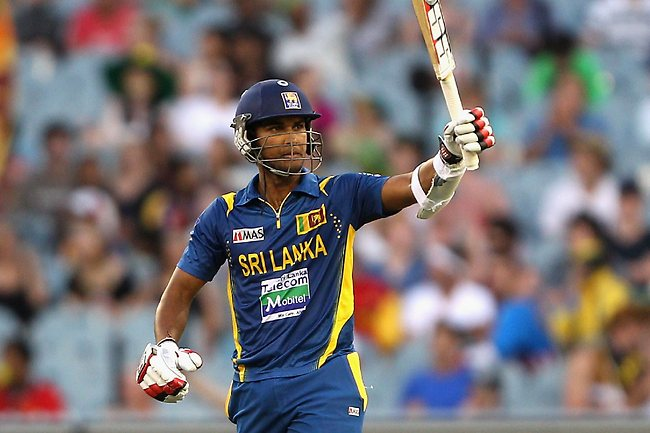 MELBOURNE, AUSTRALIA - JANUARY 11: Dinesh Chandimal of Sri Lanka celebrates his half century during game one of the Commonwealth Bank One Day International series between Australia and Sri Lanka at Melbourne Cricket Ground on January 11, 2013 in Melbourne, Australia. (Photo by Robert Prezioso/Getty Images)