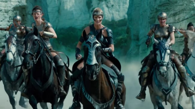 The Amazons ride into battle in 'Wonder Woman'. Photo: 'Wonder Woman'