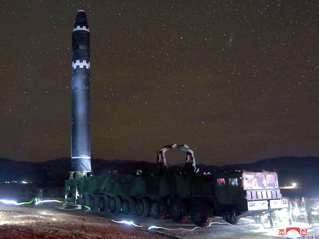 Not all images of the November 29 missile launch were altered. Picture: KCNA/AFP