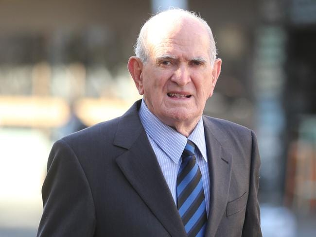 Noel Greenaway arrives at the Parramatta court to face charges .pic John Grainger