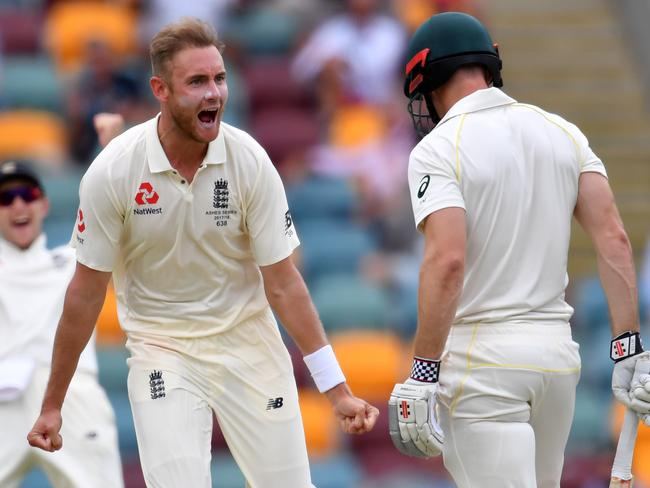 Stuart Broad let Shaun Marsh know he was gone.