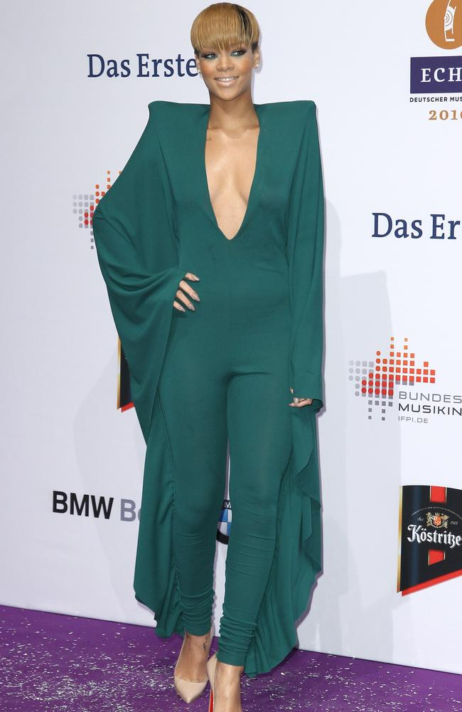 When it comes to jumpsuits it's about knowing your shape. Rihanna always gets it right. Picture: Andreas Rentz/Getty Images