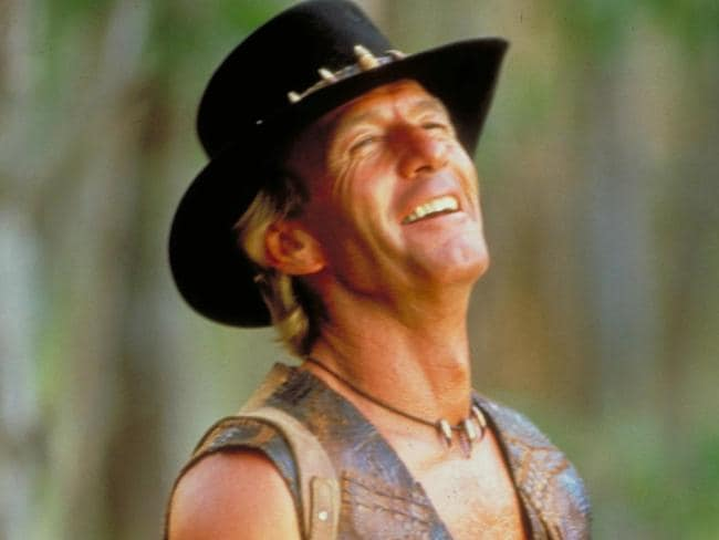 Paul Hogan could attribute some of the success to Crocodile Dundee to Australia's cricket stars. Picture: Supplied