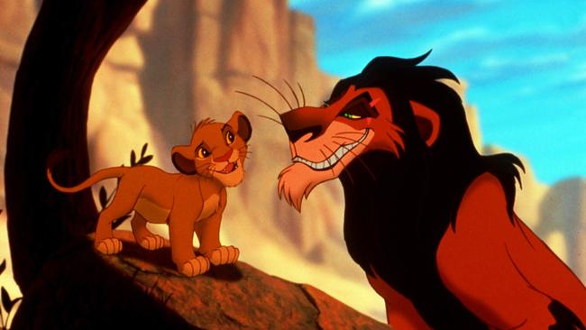 Simba and his uncle Scar.