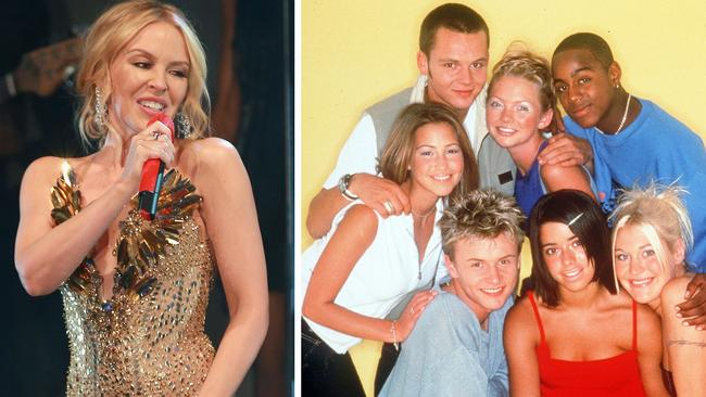 S Club 7 and Sophie Ellis-Bextor were among several artists that declined to record Can't Get You Out of My Head. Picture: Getty Images; Supplied