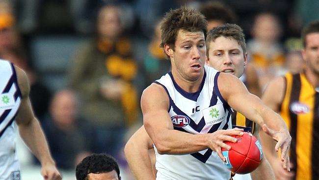 Fremantle's Lee Spurr started to attract attention late last year. The mature-age defender is starting to become comfortable at AFL level and one would think he'll only get better in 2014.