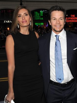 Absent ... Mark Wahlberg and wife Rhea.
