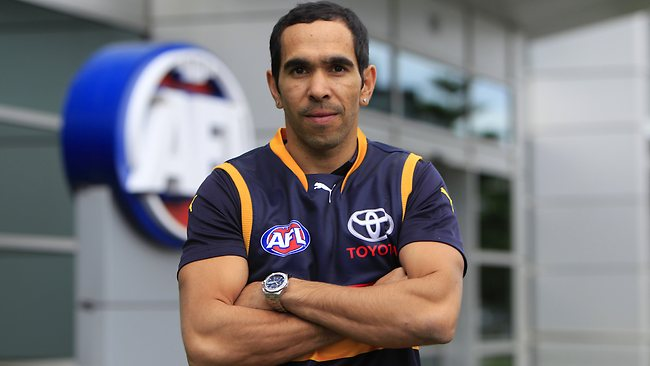 Adelaide recruit Eddie Betts at AFL House. Picture: Richard Serong
