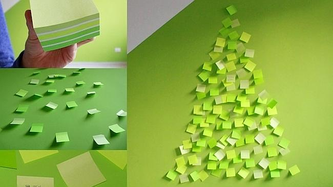 If you've got a pile of spare post-it notes lying around, this could work. Picture: Pinterest/lafactoriaplastica.com