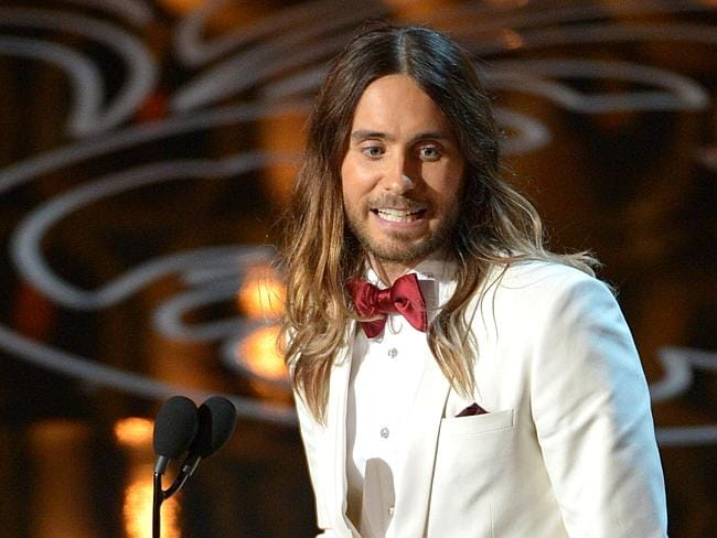 Jared Leto accepts the Oscar for Best Supporting Actor for Dallas Buyer's Club.