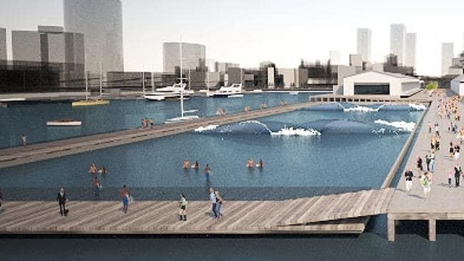 Pool At Centre Of 100m Docklands Reconnection Plan Daily Telegraph
