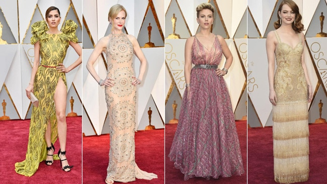 Oscars 2017 red carpet fashion. Pictures: Wires