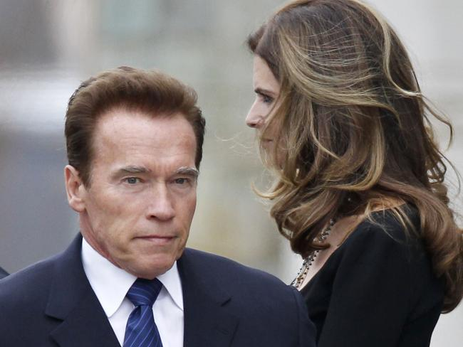 Troubled marriage ... Maria Shriver, right, and her husband, actor and former California Governor Arnold Schwarzenegger.