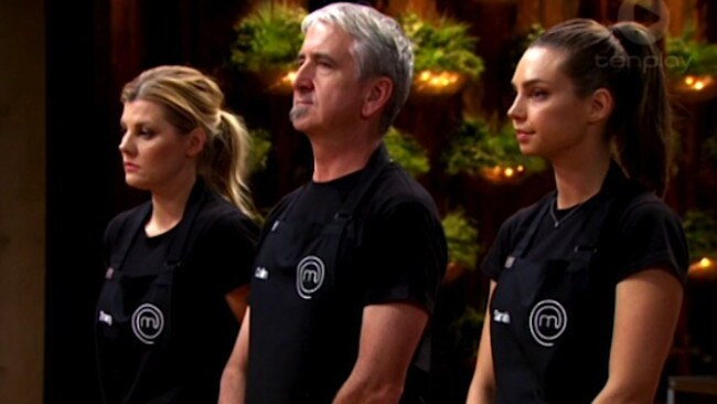 Up for elimination ... MasterChef contestants Tracy, Colin and Sarah.