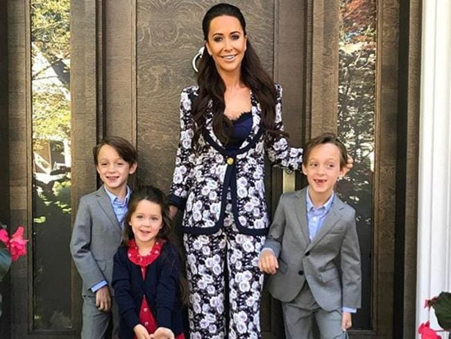 Jessica Mulroney and children Ivy Mulroney, Brian Mulroney and John Mulroney. Picture: Instagram