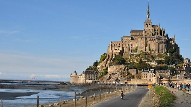 Sightseeing in Mont Saint-Michel, Northern France.