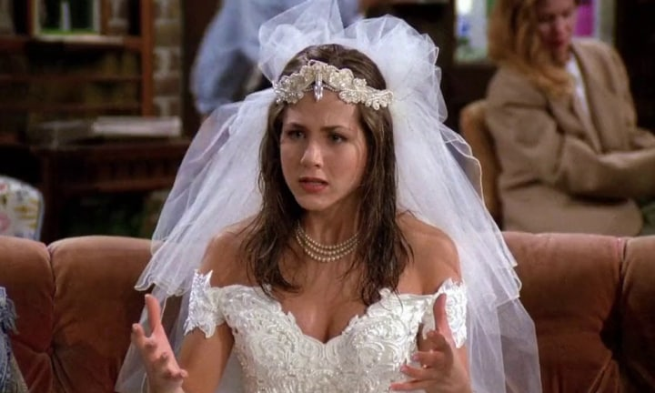 THE ONE WITH WEDDING DRESS The First Time We See Rachel Its Swamped