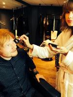 "Behind The Scenes 2014 MTV VMAs... Singer Taylor Swift posts, ""We're getting ready for the #VMAs, are you? @edsheeran"" Picture: Twitter"