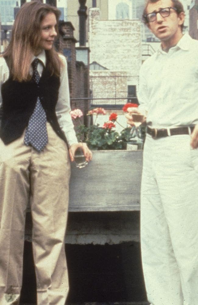 American actors Diane Keaton and Woody Allen in a scene from  <i>Annie Hal</i> <i>l</i>, directed by Allen in New York in 1977. Picture: United Artists/Getty