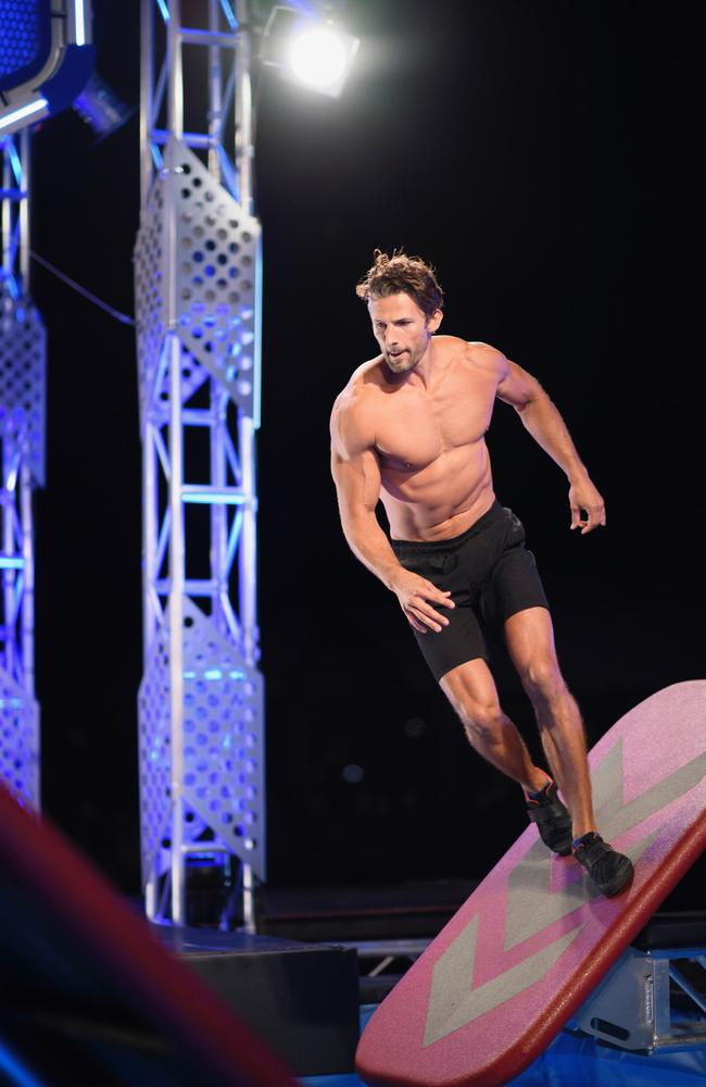 Tim Robards appearing on Ninja Warrior. Picture: Channel 9