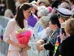 Catherine, Duchess of Cambridge meets spectators at the Playford Civic Centre in Adelaide, Australia. Picture: Getty