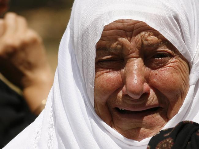 No survivors ... a mourning relative of a Lebanese passenger who was aboard the Air Algerie plane.