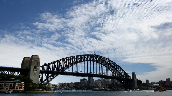 A new tunnel would provide a third major option to cross Sydney Harbour. Picture Chris Pavlich