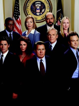 Great cast ... Rob Low, front left, with his West Wing co-stars. Picture: Supplied