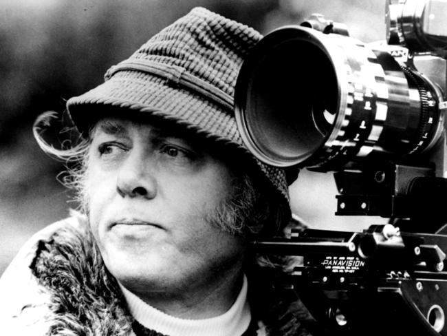 "Richard Attenborough shooting his film ""Magic""."