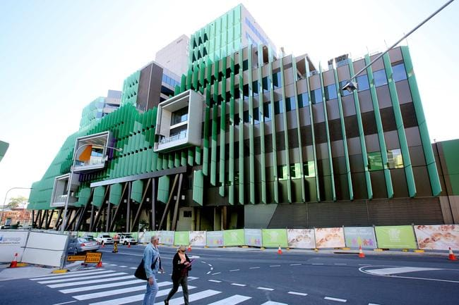 The Lady Cilento Children's Hospital at South Brisbane will officially open its doors in November. Picture: Mark Cranitch.