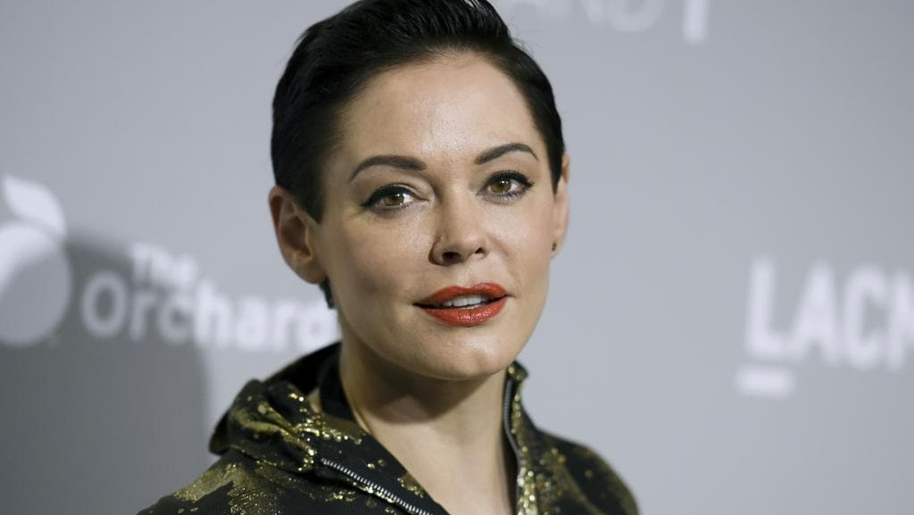 Stars have come out in support of Rose McGowan after she was suspended from Twitter. Picture: Richard Shotwell/Invision/AP