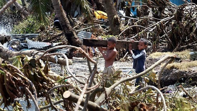 About 60 houses were destroyed in Nabutu Settlement. Picture: David Geraghty