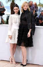 "Cate Blanchett and Rooney Mara attend a photocall for ""Carol"" during the 2015 annual Cannes Film Festival. Picture: Getty"