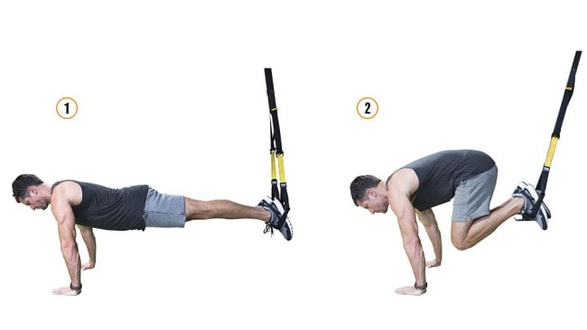 TRX suspended knee tucks