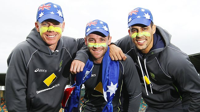 Xavier Doherty, Phil Hughes, Mitchell Johnson