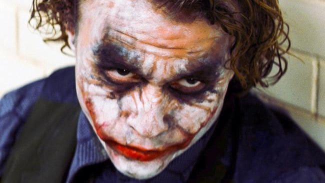 "Heath Ledger in his iconic performace as ""The Joker"" / HWT Image Library"