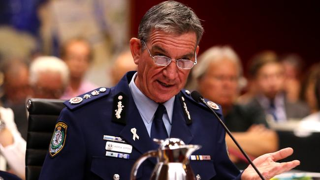 NSW Police Commissioner Andrew Scipione fronted the inquiry last week to defend his handling of the operation. Picture: Adam Taylor