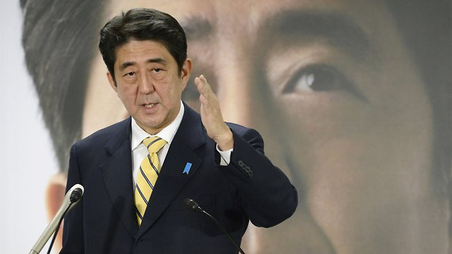Japan's major opposition Liberal Democratic Party leader Shinzo Abe speaks in Tokyo this week.