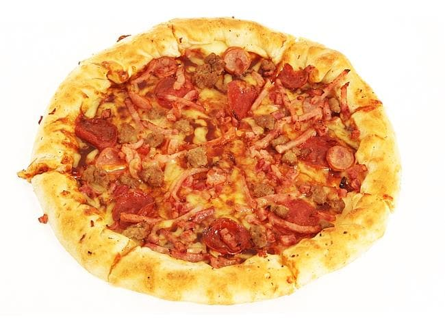There's a hot dog in that stuffed crust pizza.