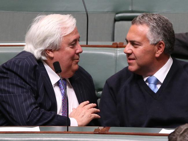 Treasurer Joe Hockey is working hard to woo Clive Palmer and his senators in the hope they will help pass the Budget.