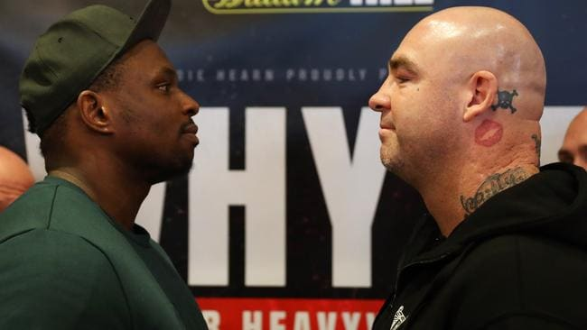 Dillian Whyte and Lucas Browne will face off in London on March 24. Picture: Linnea Rheborg/Getty Images
