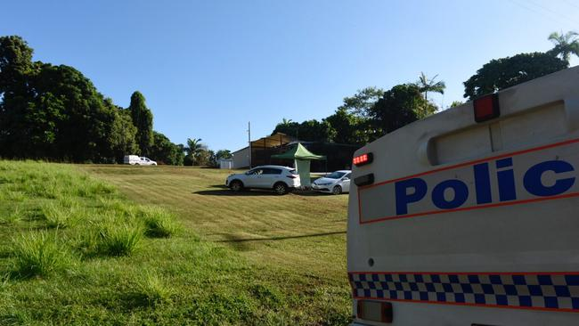 A police incident tent was set up on Alexander Drive, Mission Beach in Far North Queensland after three people were killed while skydiving. Pic: CHRIS HOLMES, INNISFAIL ADVOCATE