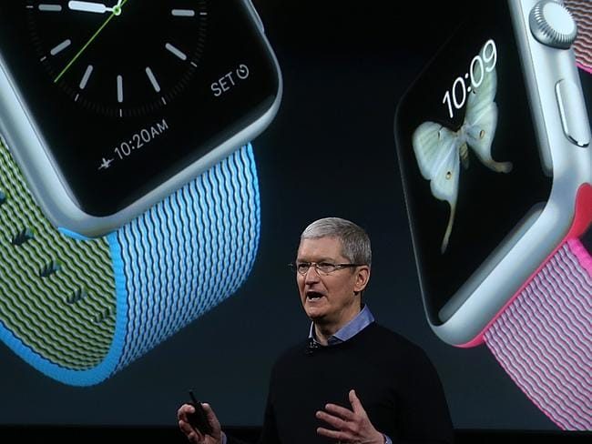New features ... Apple CEO Tim Cook said the Apple Watch has had a makeover. Picture: Getty Images