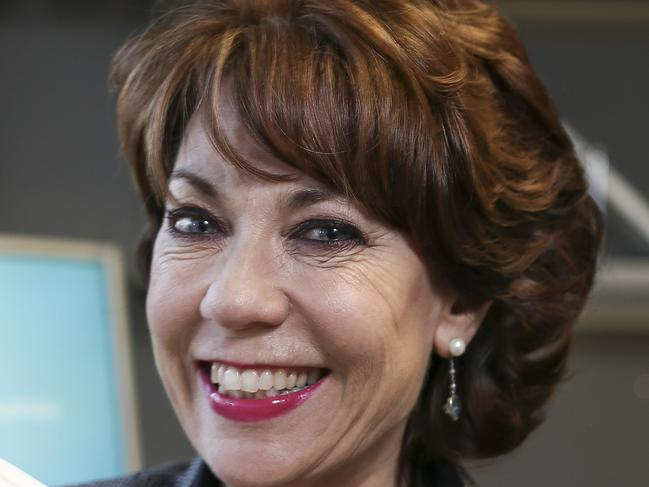 Author Kathy Lette coming in to The Advertiser - pic Mike Burton