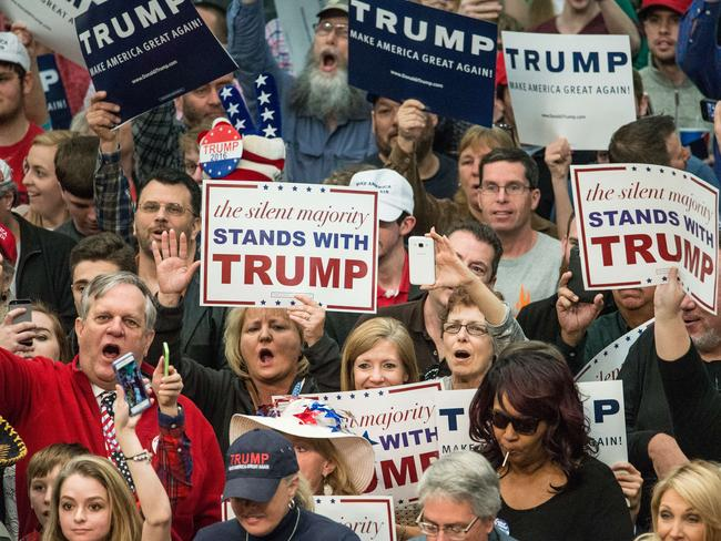 Donald Trump isn't lacking supporters. They're passionate and they're coming out in force. Picture: Sean Rayford/Getty Images/AFP